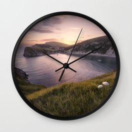 Last Light at Lulworth Wall Clock