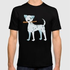 The Dalmatian is out MEDIUM Mens Fitted Tee Black
