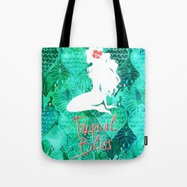 Silhouette in the Jungle - Tropical Bliss Tote Bag