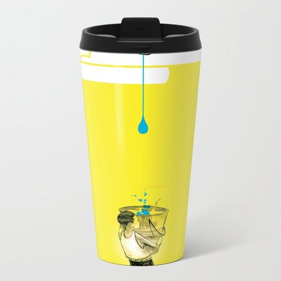 "Glue Network Print Series ""Water / Hygiene / Sanitation"" Metal Travel Mug"