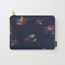 Floral Raptor Carry-All Pouch