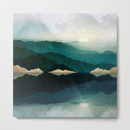 Waters Edge Reflection Metal Print