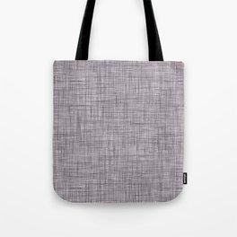 Cross Weave Line Pattern Dark Lavender Purple Tote Bag