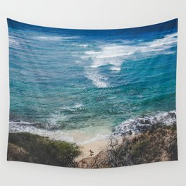 Surfer meets Sea - Diamond Head / Oahu / Hawaii Wall Tapestry
