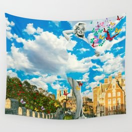 Traveling in the Clouds Wall Tapestry