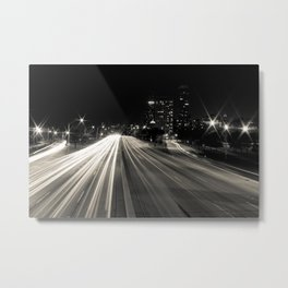 Lake Shore Lights Metal Print