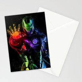 Avenger Infinity Wars Iron Man Abstract Painting - Iron Man Graffiti Stationery Cards