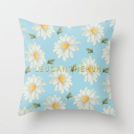 Leucanthemum Throw Pillow