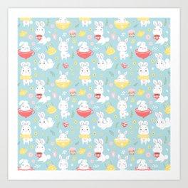 Spring Bunnies Art Print