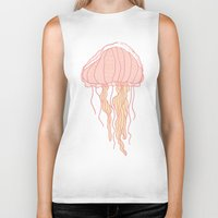 jellyfish Biker Tanks featuring Jellyfish by Doucette Designs
