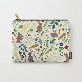 Rabbits In The Garden Carry-All Pouch