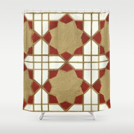 Aga Khan Motif Shower Curtain