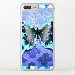 Butterfly Glow #2 Clear iPhone Case