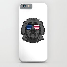 Patriotic America Portuguese Water Dog Lover Gift iPhone Case