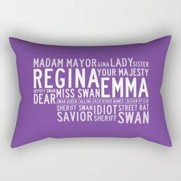 Swan Queen Nicknames - Purple (OUAT) Rectangular Pillow