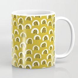 Sunny Melon love abstract brush paint strokes yellow ochre Coffee Mug
