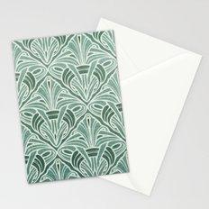 Art Nouveau Grunge Pattern Stationery Cards