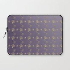 Ginkgo Purple Gold Laptop Sleeve