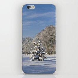 Snowy Christmas Tree iPhone Skin