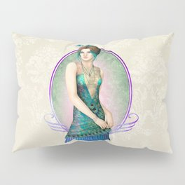 Peacock Gown Pillow Sham
