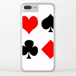poker card figures Clear iPhone Case
