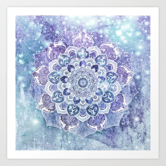 FREE YOUR MIND in Blue Art Print