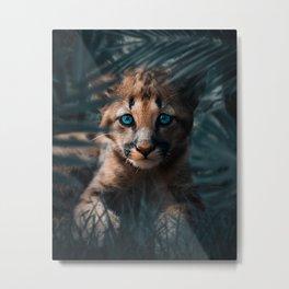 Cute Cougar Cub Metal Print