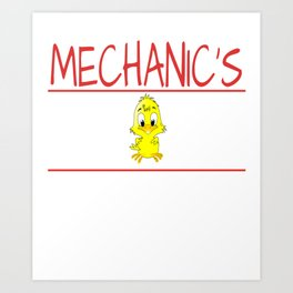 Mechanic's Chick Gift Wife Girlfriend design Art Print