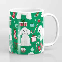 Bichon Frise Christmas dog breed pattern mittens stockings presents dog lover Coffee Mug