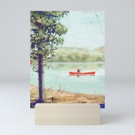 fishing - by phil art guy Mini Art Print