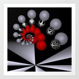 red white black -2- Art Print