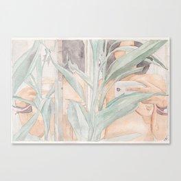 Flora & Reflection Selfie. Canvas Print