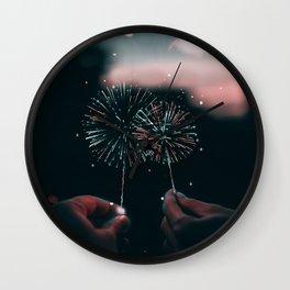 Happy New Year - Julien Tabet - Photoshop Artwork Wall Clock