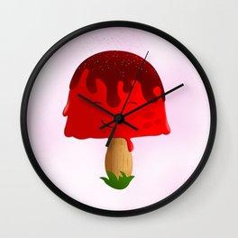 Frozen Mushroom Wall Clock