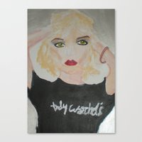 blondie Canvas Prints featuring Blondie by ArtByAngela