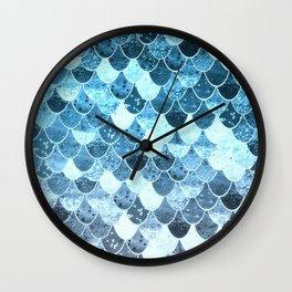 REALLY MERMAID SILVER BLUE Wall Clock