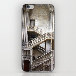 Staircase in a church of Rouen iPhone Skin