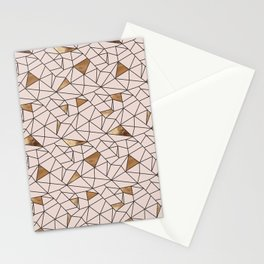 Modern abstract blush pink faux gold geometrical Stationery Cards