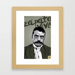 Emiliano Zapata - Trinchera Creativa Framed Art Print