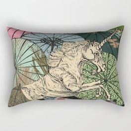 Unicorn Amongst Umbrellas IX Rectangular Pillow