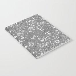 Grey floral Notebook