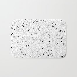 Paper planes B&W / Lineart texture of paper planes Bath Mat