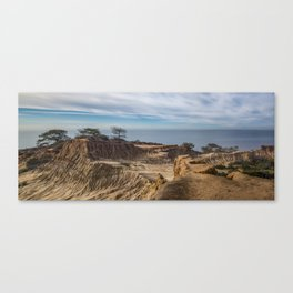 Mid-morning at Broken Hill Trail, Torrey Pines State Park, San Diego, California Canvas Print