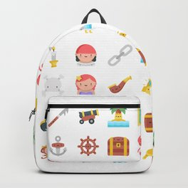 CUTE PIRATES PATTERN (PIRATE SHIP CHARACTERS) Backpack