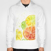 fruit Hoodies featuring Fruit Watercolor by Olechka
