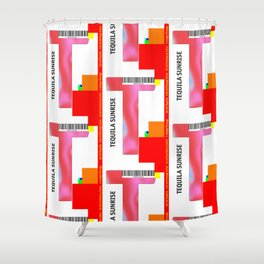 "Cocktail ""T"" - Tequila Sunrise Shower Curtain"