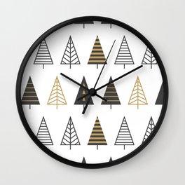 MODERN CHRISTMAS TREES Wall Clock