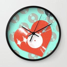 RECORD HEARTBEAT Wall Clock