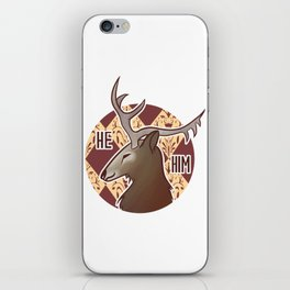 He/Him Père-David's Deer iPhone Skin