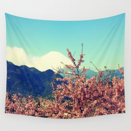 Mountains & Flowers Landscape Wall Tapestry